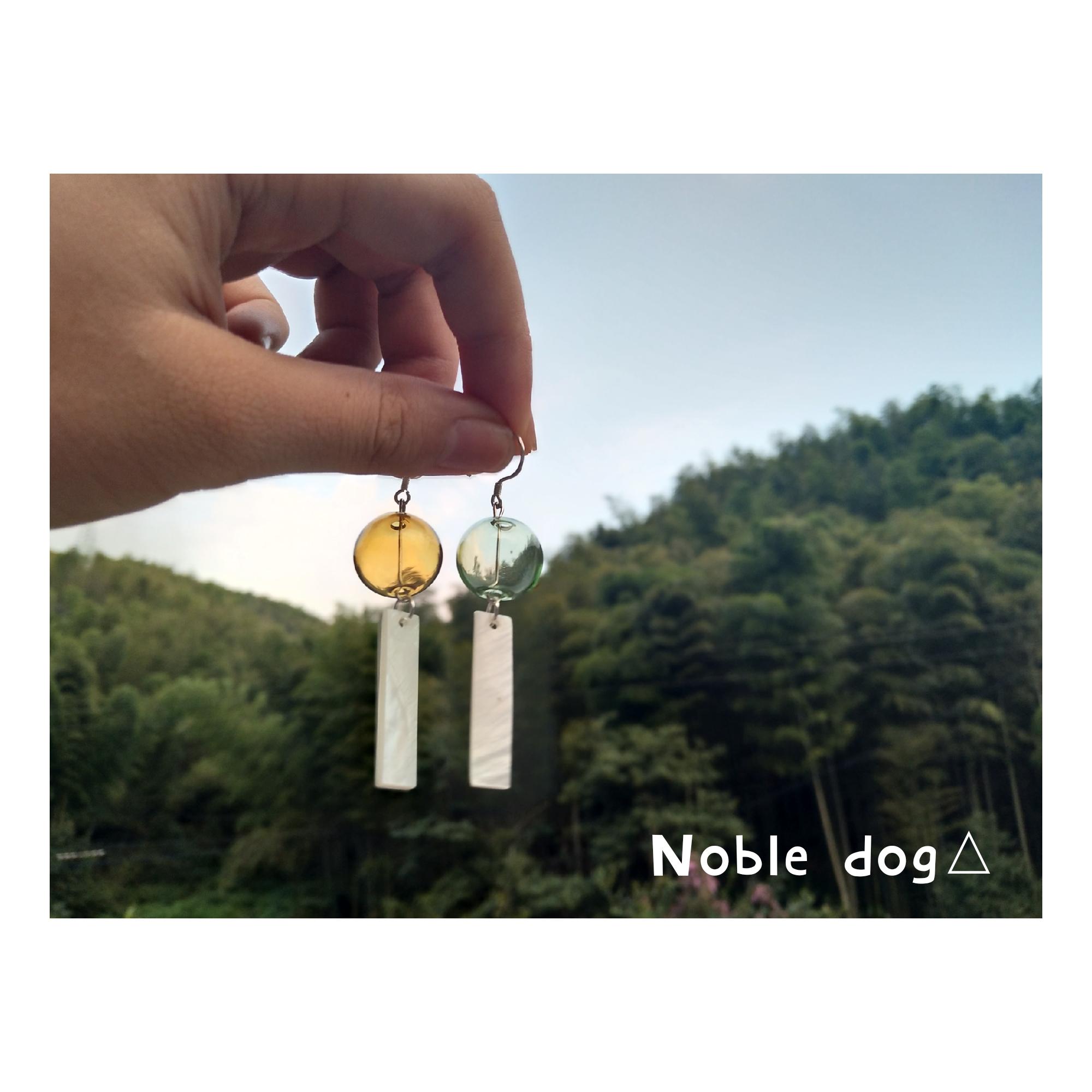 满38包邮/日系风铃简约和风玻璃气泡耳环小清新贝壳梦幻耳环