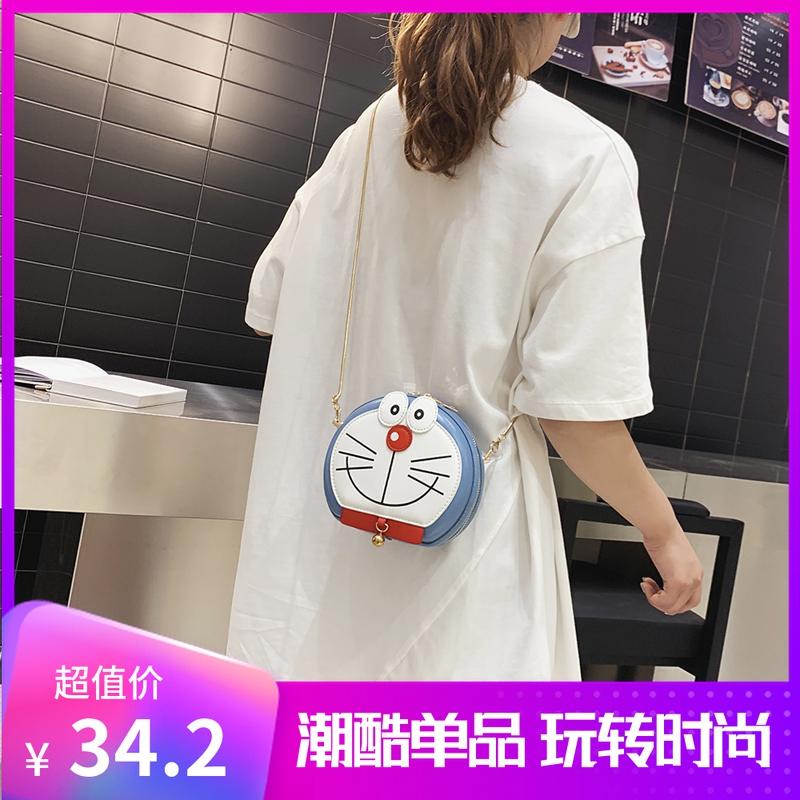 Doraemon bag 2021 new fashion bag best friend student lovely cartoon womens bag net red one Shoulder Messenger Bag