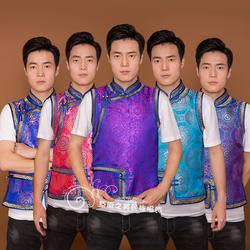 男士蒙古服装马甲日常现代改良蒙族坎肩民族蒙古元素马夹上衣新品