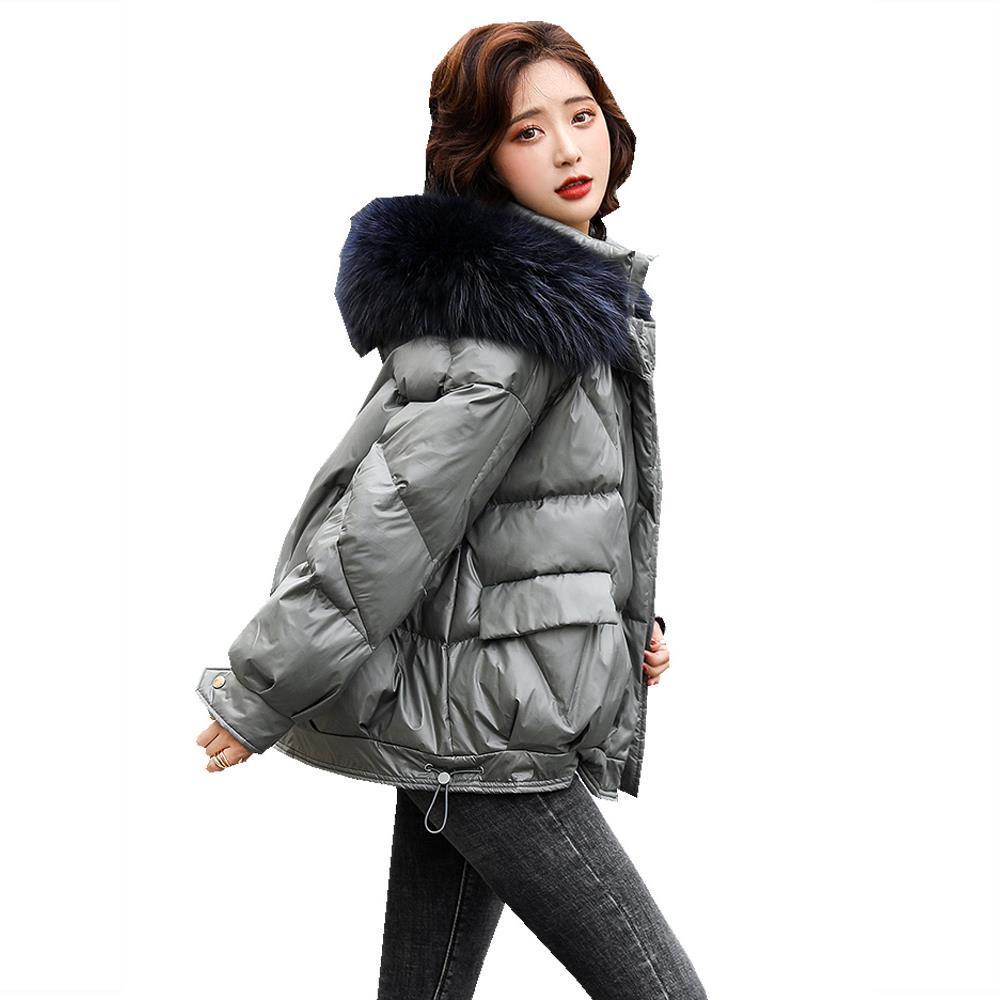 连帽棉服女短款2020冬季新款韩版时尚宽松小棉袄配毛领棉衣外套潮