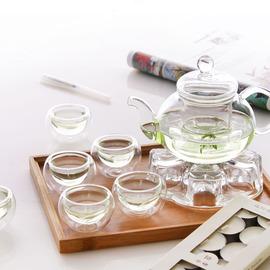 耐热玻璃茶具花茶壶煮茶壶套装水果茶壶功夫茶具花茶杯保温送蜡烛
