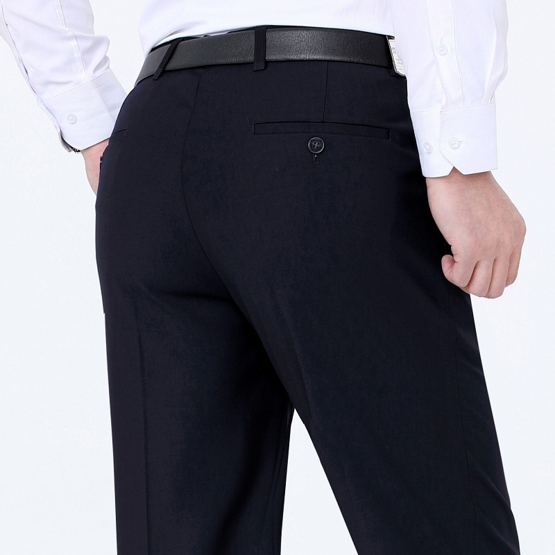 2020 genuine professional trousers mens autumn and winter wear thick middle-aged mens non iron business wool casual formal trousers