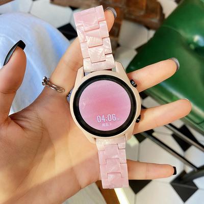 适用华为gt2表带gt2pro智能手表荣耀手表带watch3/pro雅致新创意ECG版夏天男女款陶瓷42树脂46mm时尚表链配件
