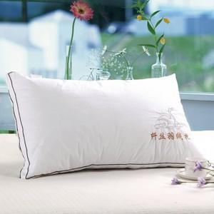 羽丝绒纤丝羽绒枕芯枕头单人全棉护颈枕心全棉正品枕头羽特价包邮