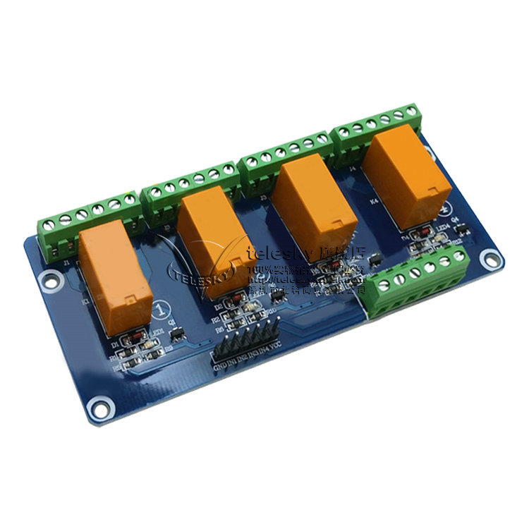 4-way dual-signal relay module low-level trigger 5V voltag,可领取元淘宝优惠券