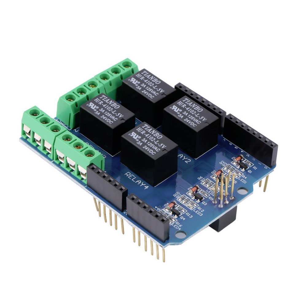 4 Channel 5V Relay Module Board Shield For PIC AVR DSP ARM,可领取元淘宝优惠券
