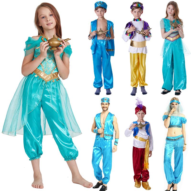 万圣儿童节舞会装扮印度阿拉伯神话阿拉丁神灯cosplay衣服装面具