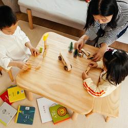 实木小桌子家用多功能宝宝积木游戏桌玩具桌幼儿园桌椅套装儿童桌