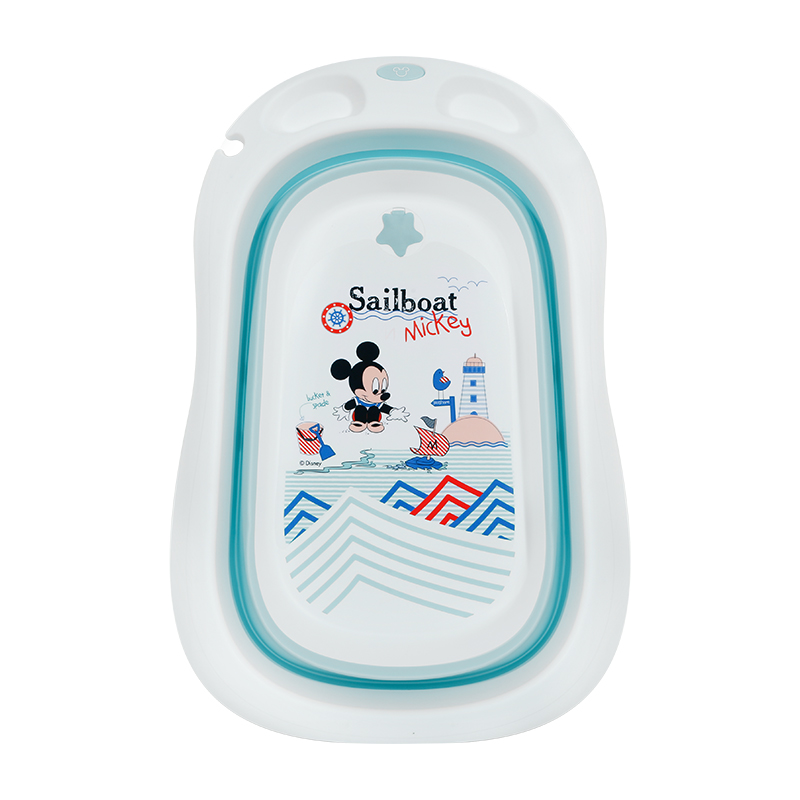 Disney New Baby large folding bathtub baby bathtub folding bathtub sitting and lying baby products