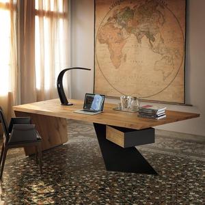 loft工业风创意实木老板桌总裁桌总经理个人办公桌电脑桌书房书桌