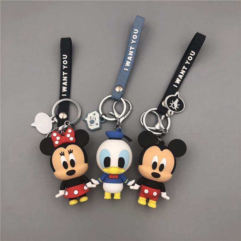 米奇米妮可爱维尼钥匙扣情侣汽车钥匙挂件卡通米老鼠唐老鸭挂饰