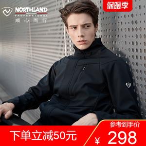 諾詩蘭19新款男士秋冬運動戶外防風保暖休閑軟殼風雪外套GF085X09