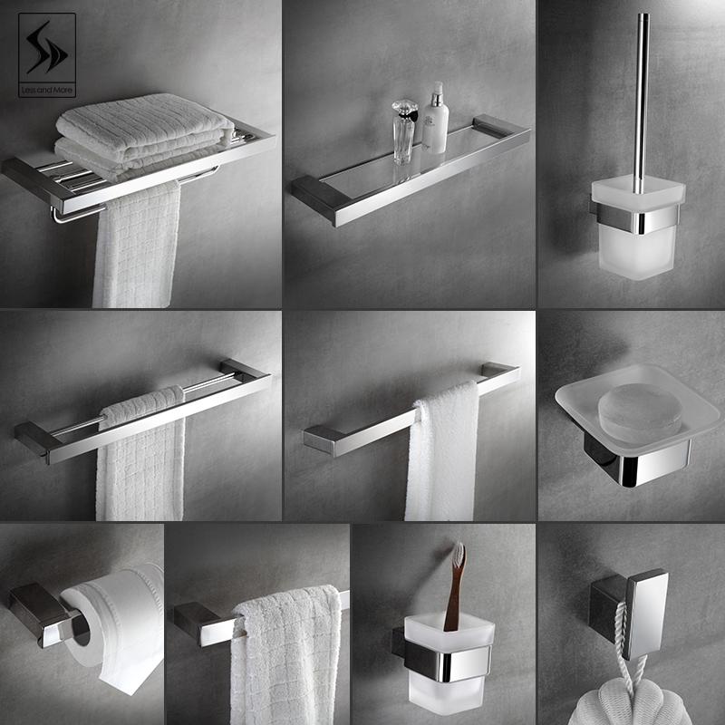 毛巾架304不锈钢浴巾架卫浴五金浴室挂件厕所卫生间置物架套装