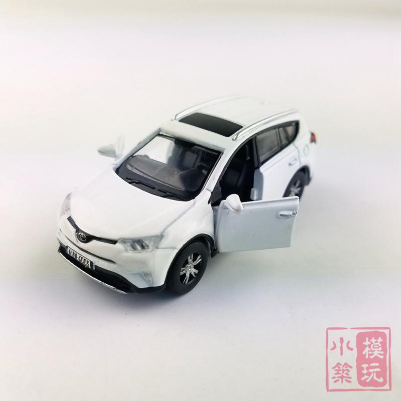 高档TINY微影 1:64 台湾版TW01 丰田RAV4 SUV白色 合金小比例汽车,可领取元淘宝优惠券