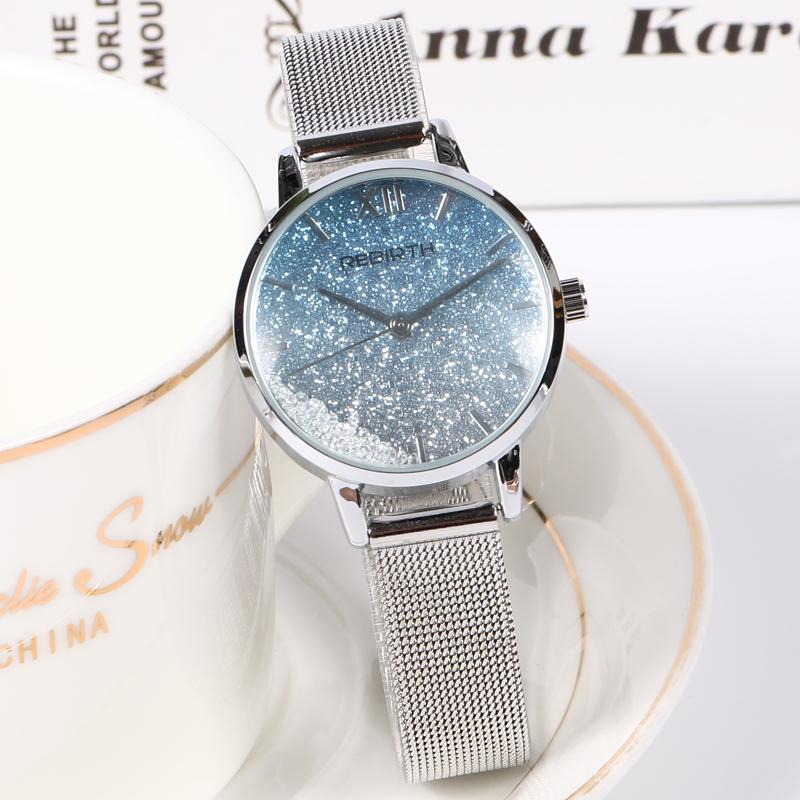 北欧法国小众设计手表简约气质流沙水钻梦幻星空女士学生奢华女表
