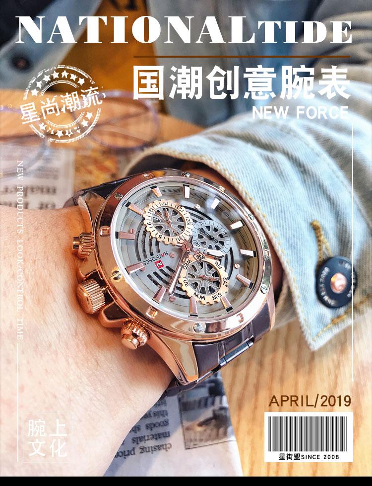 Mens watch fashion trend steel belt mens watch automatic mechanical watch waterproof college student watch boutique Watch