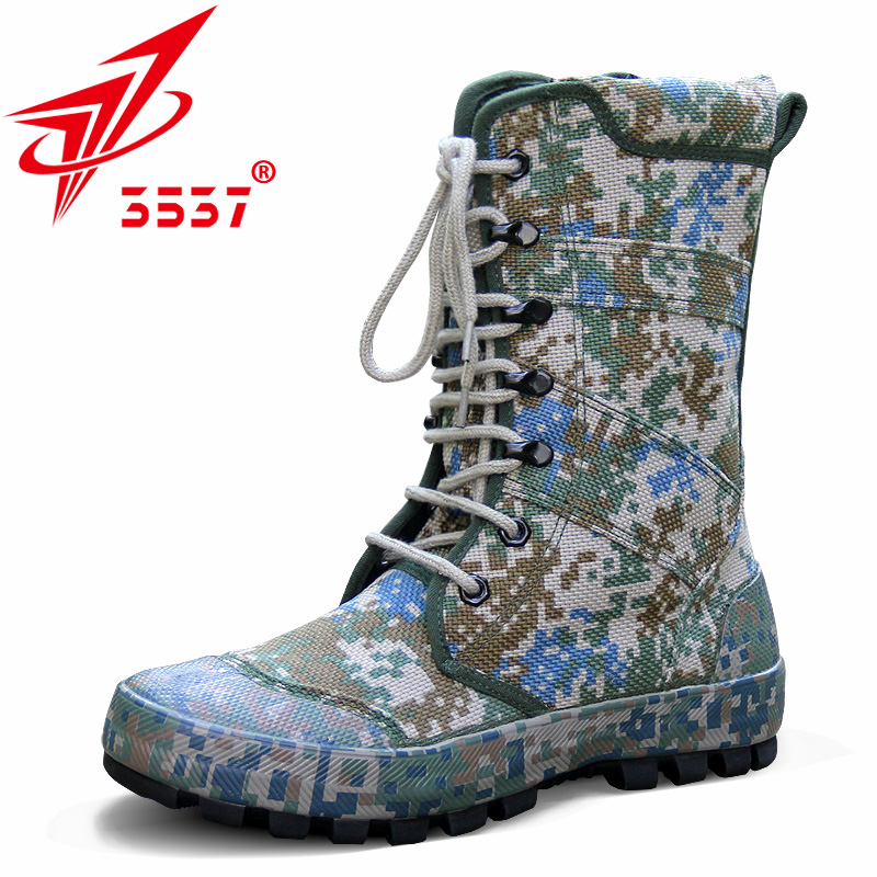 3537正品高帮作训鞋男迷彩军靴特种兵作战靴战术沙漠靴耐磨防风沙