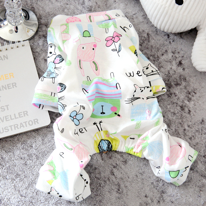 Pet Bixiong Teddy Puppy Clothes Small dogs Spring and Summer Sleepwear Home Clothes Four-legged Clothes