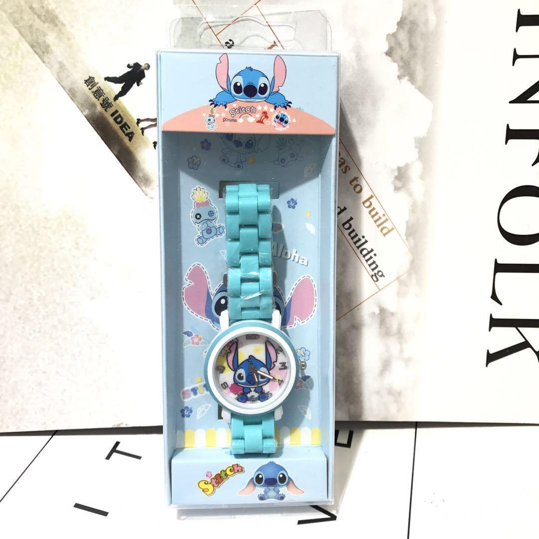 史迪仔星际宝贝stitch儿童学生男生女生卡通防水盒装陶瓷手表包邮