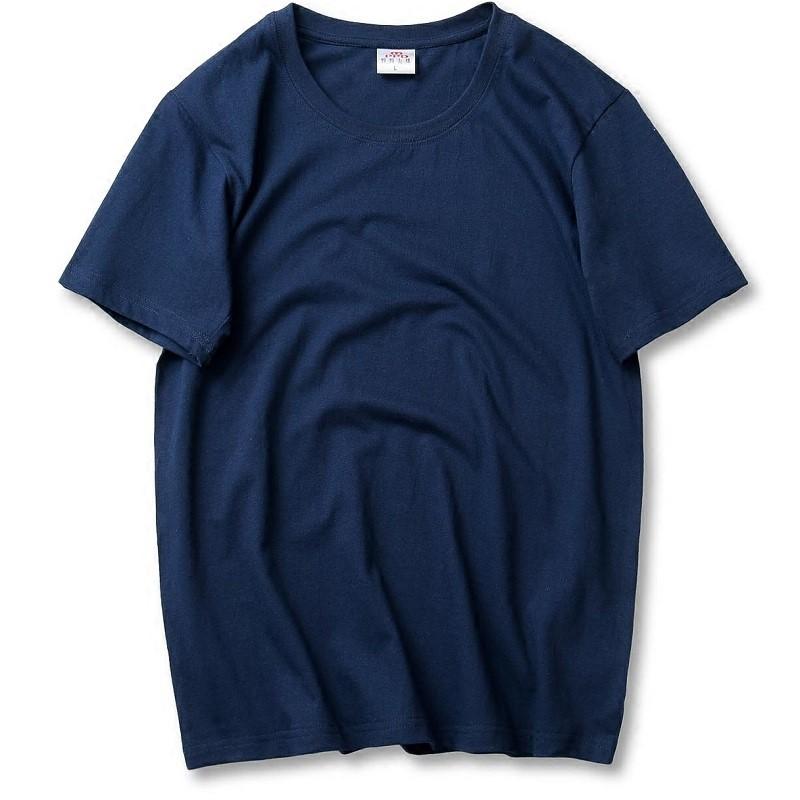 纯棉短袖T恤男加肥加大码半袖支持同学,朋友,工厂定制M-6XL圆领