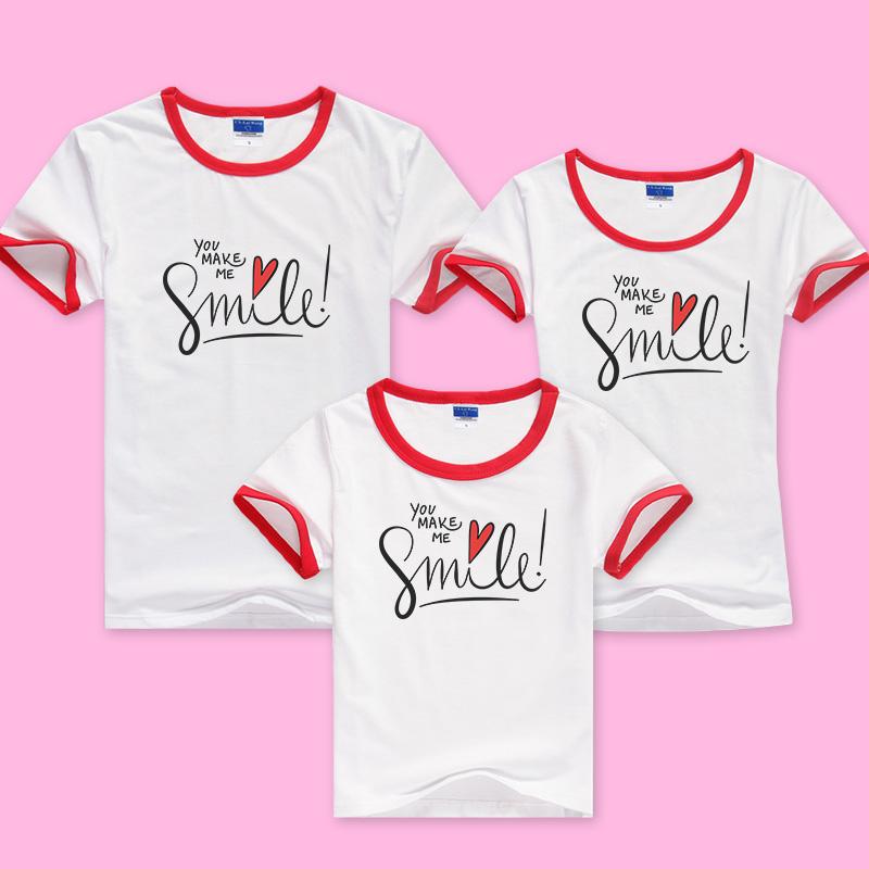 儿童t恤夏令营文化衫定做diyt恤衫印照片logo来图订做亲子装