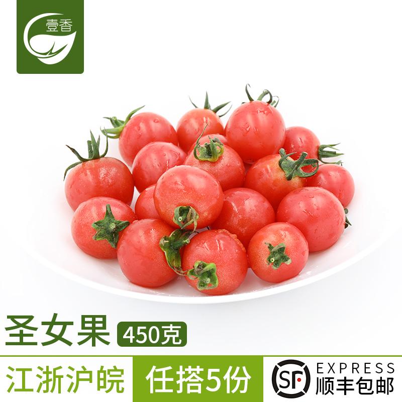 壹香 圣女果450g新鲜樱桃小番茄沙拉食材新鲜蔬菜水果5件顺丰包邮