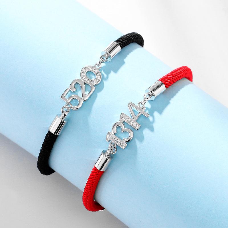 饰品店铺女 韩国情侣手链男女韩版学生本命年红绳手环饰品520情人