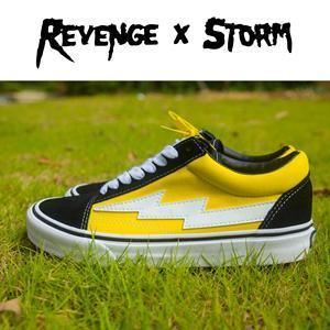 revengexstorm复仇风暴闪电情侣板鞋火焰滑板鞋 潮牌男鞋秋冬新款
