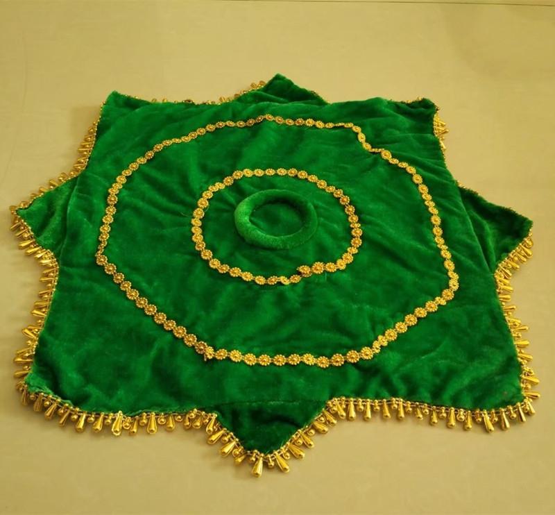深绿色舞蹈手绢加厚成人大号广场舞二人转转巾手帕18.8一对手绢花