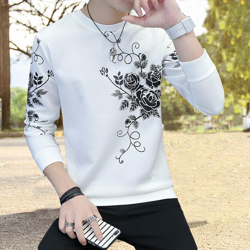 男士薄款t恤长袖韩版青少年卫衣