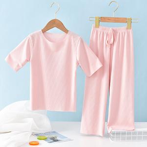 2021新款夏天女童男童夏装套装儿童装网红洋气大童女宝宝小孩衣服