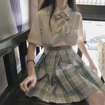 雪松兔缝缝jk温柔一刃日系JK制服百褶格裙正版学院学生半身裙女夏
