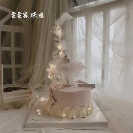 芭蕾舞女孩生日蛋糕裝飾 夢幻網紗紗裙女孩蛋糕裝飾配件網紅同款圖片