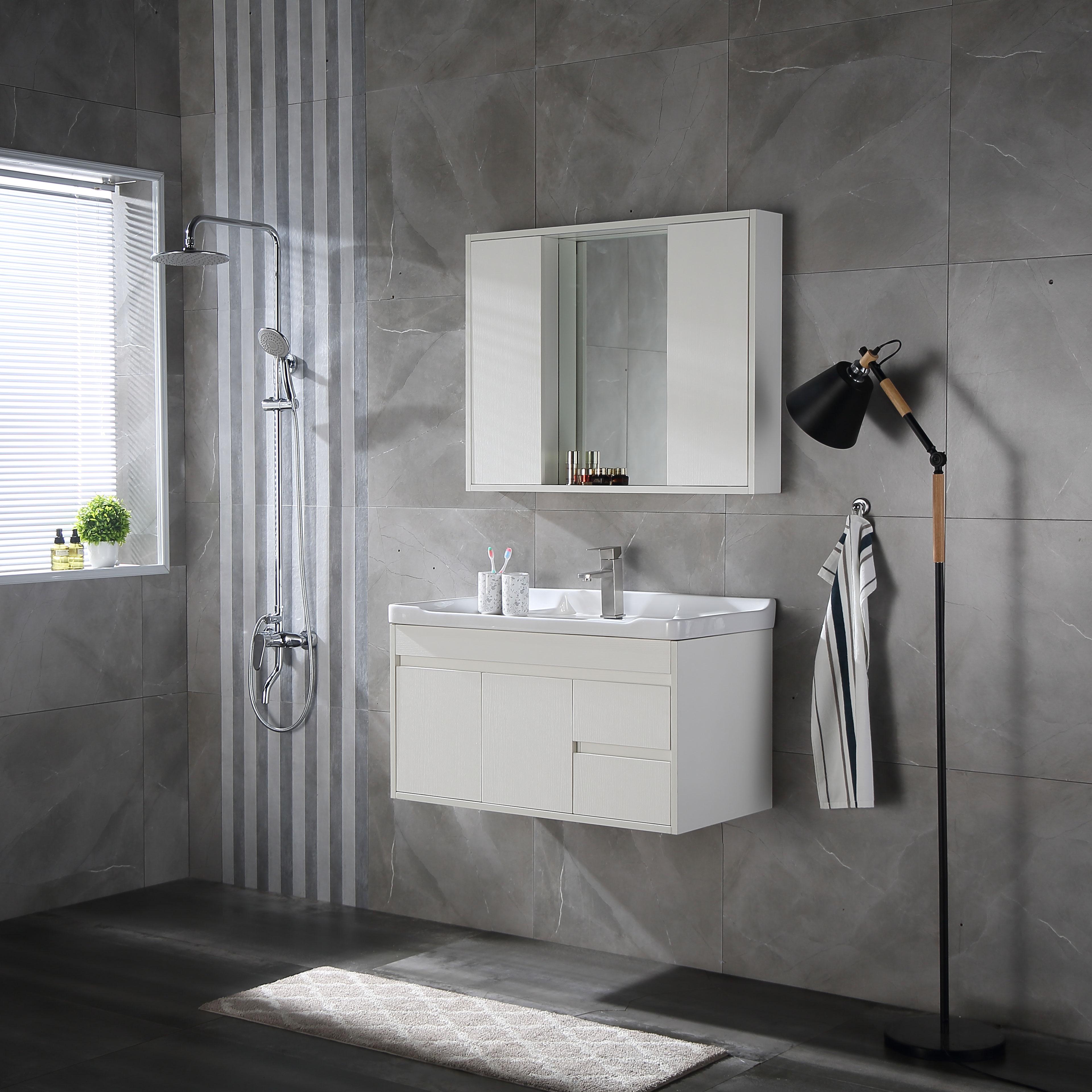 维佰得简约浴室柜组合隐藏风水镜柜热销2件正品保证