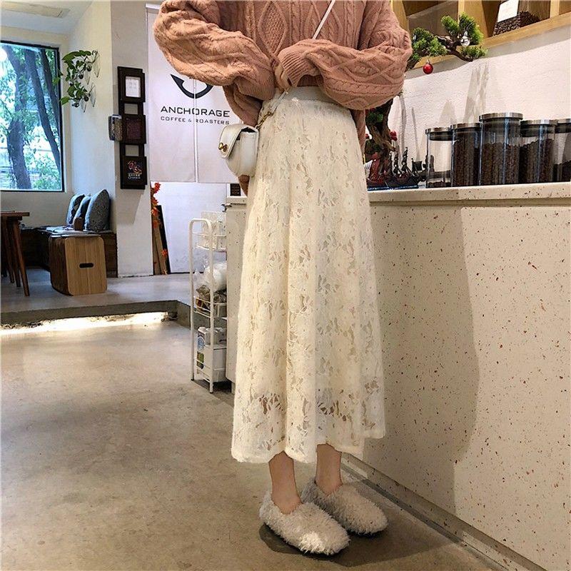 2020年春季新款蕾丝半身裙子女学生