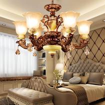 欧式吊灯客厅灯复古创意水晶灯饰卧室餐厅灯树脂简约现代美式灯具