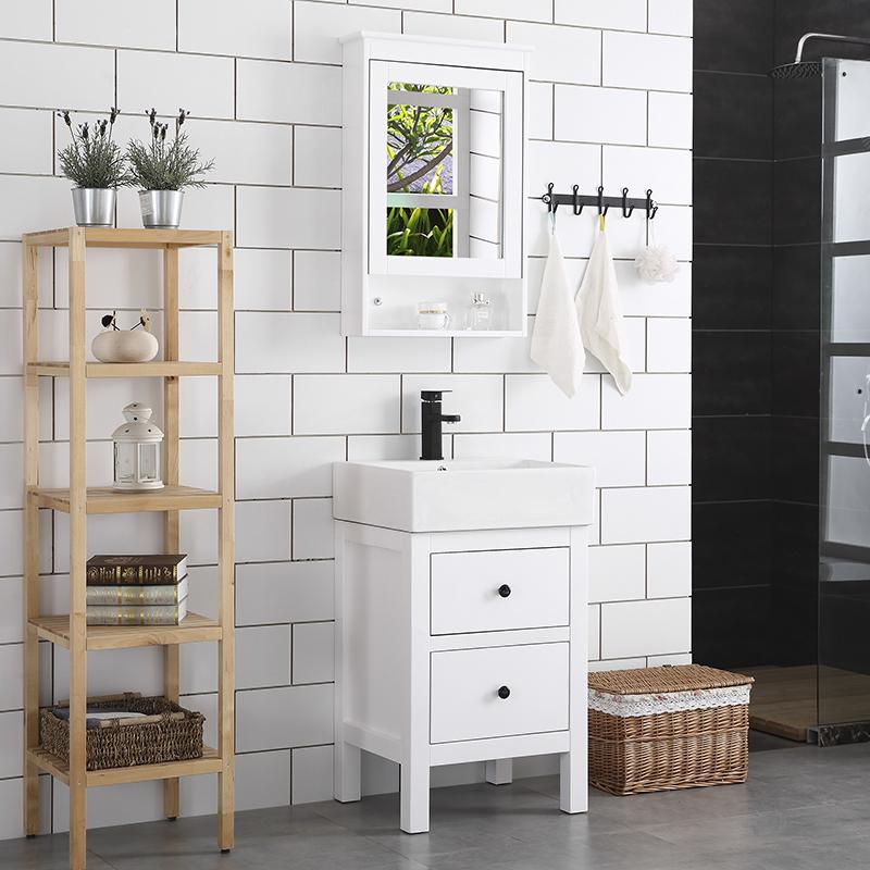北欧小户型洗脸池柜橡木浴室柜小洗手池组合柜洗漱台洗脸盆台上盆