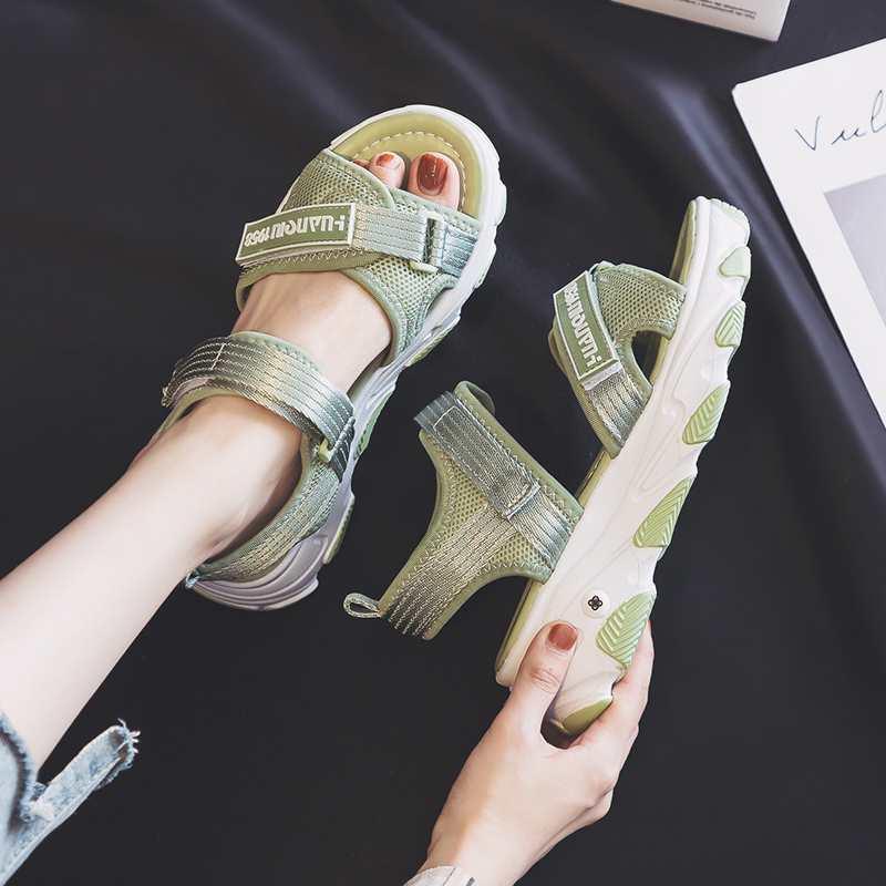 厚底运动凉鞋女ins潮2020新款夏季平底学生百搭时尚超火网红爆款