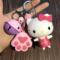 天天特价创意卡通凯蒂猫钥匙扣KT猫相机钥匙链女士包包挂件可爱