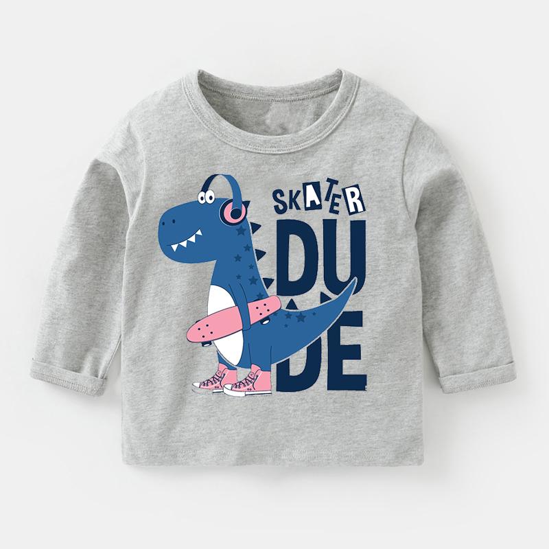 儿童长袖T恤纯棉打底衫秋装春秋童装婴儿儿童宝宝上衣小童潮女童