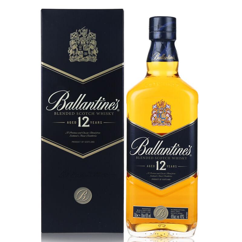 洋酒百龄坛12年苏格兰威士忌700ml英国进口百龄坛12年威士忌包邮