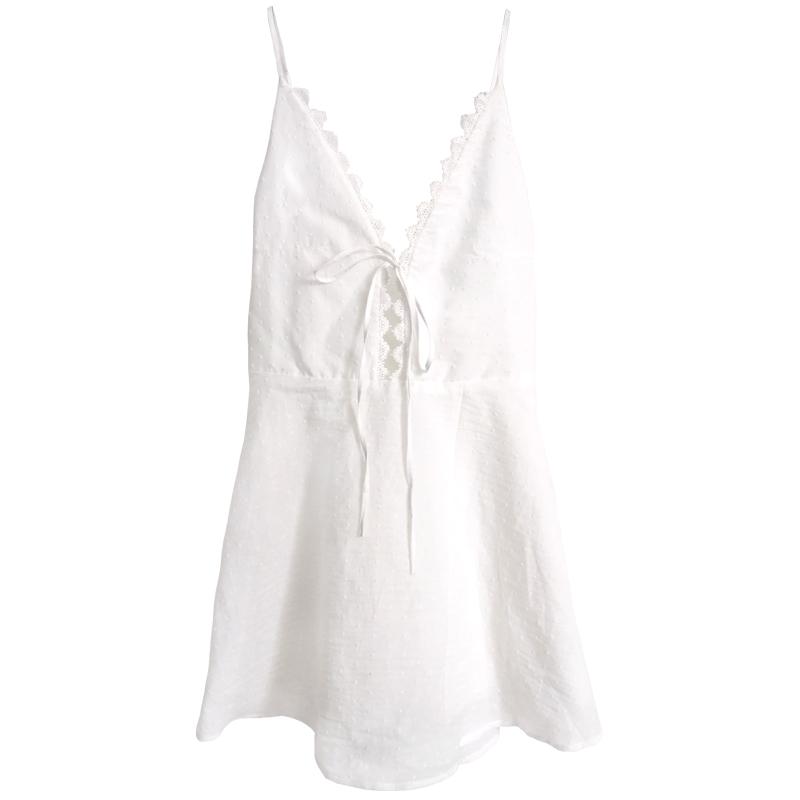 夏季薄款纯棉吊带公主风睡裙