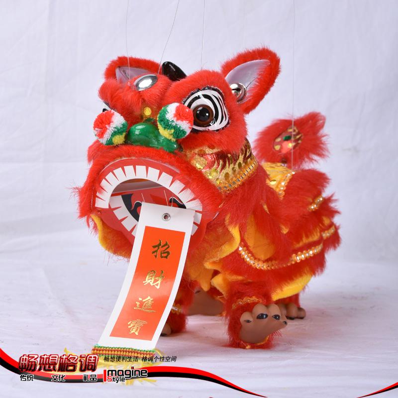 中国风礼品送老外宾中国特色玩具提线木偶人偶手工艺醒狮舞狮子