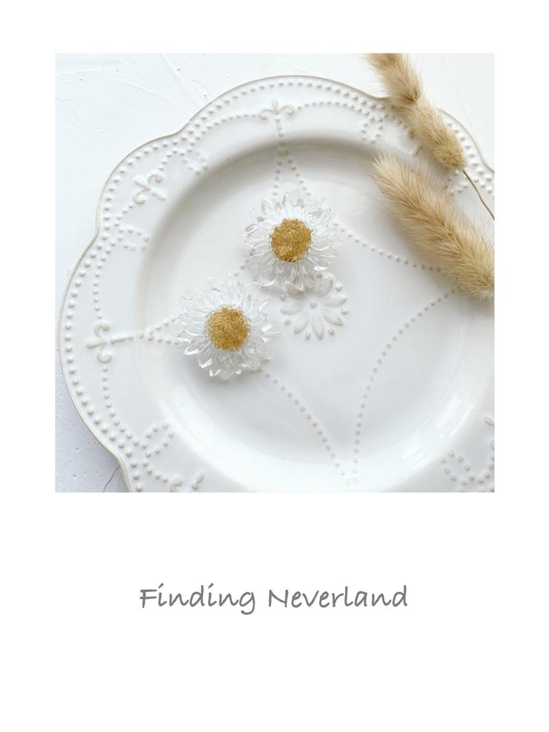 【Finding Neverland】限时包邮 手作日系可爱透明雏菊 耳钉 耳夹