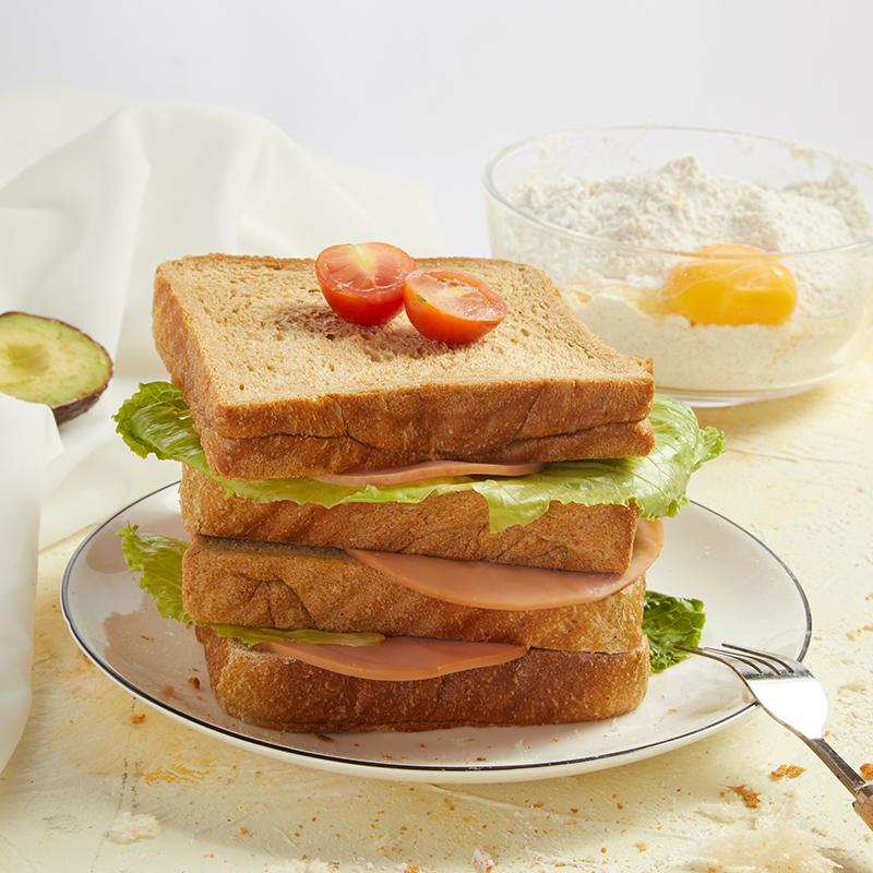 薄荷健康低脂全麦面包 600g 10片装 短保15天下单现做