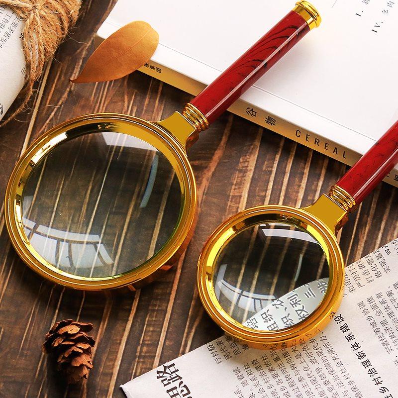 高清高倍阅读光学放大镜手持式便携式老人专用眼镜100倍儿童学生