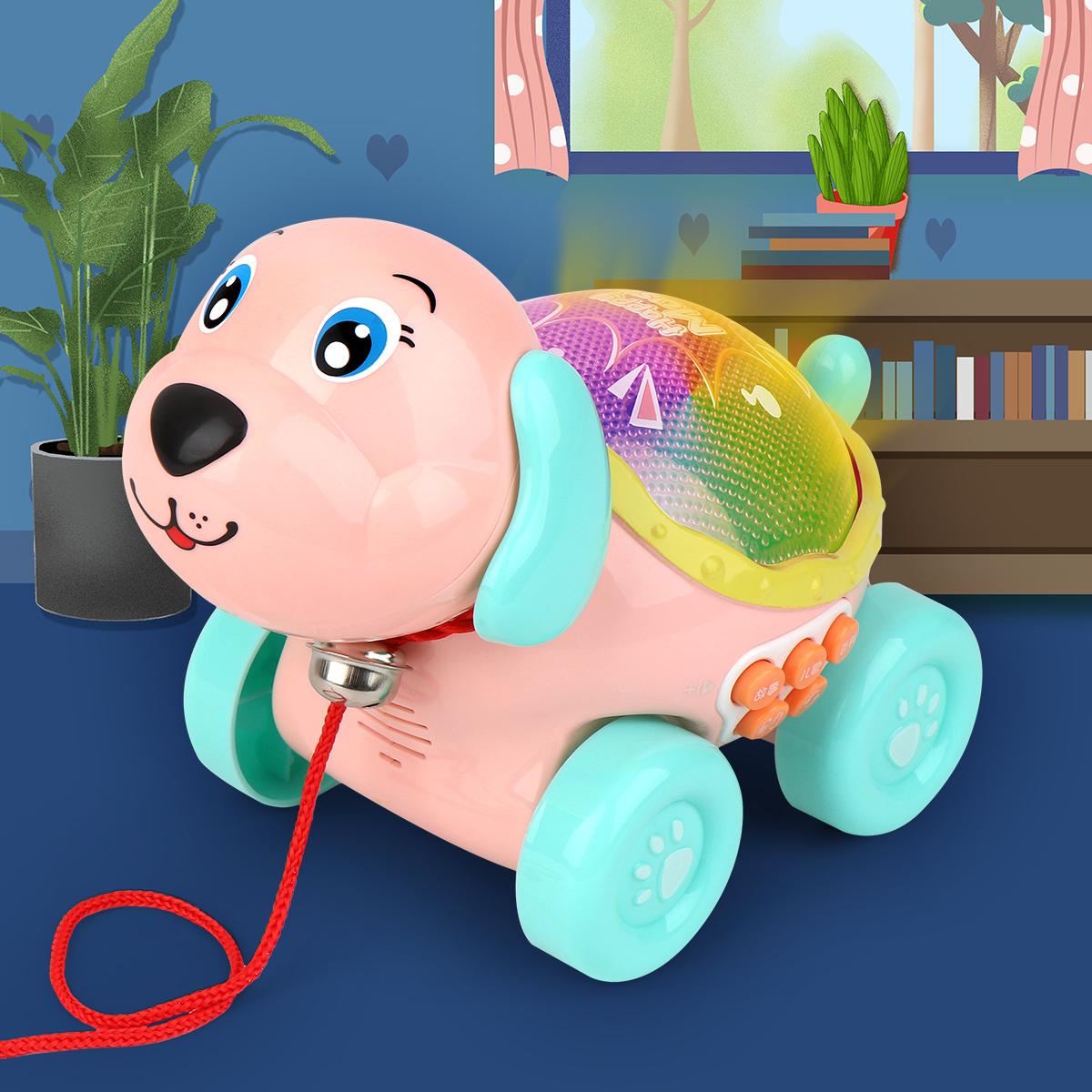Chạm vào Puppy Light Story Machine Đồ chơi trẻ em Nam và nữ Câu đố Giáo dục sớm Kéo nhạc Chó điện 1-3 tuổi - Đồ chơi giáo dục sớm / robot