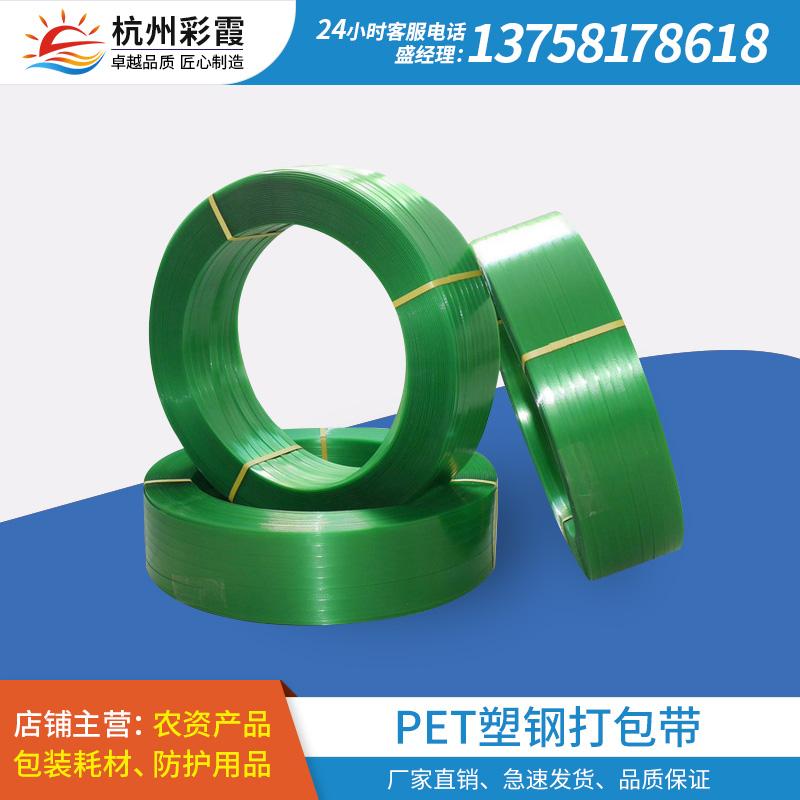 PET塑钢打包带聚酯包装带木业石材捆扎带1608绿色塑钢带厂家包邮