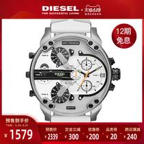 Diesel手表男官方旗舰店白色皮带迪赛运动石英男表DZ7401预售