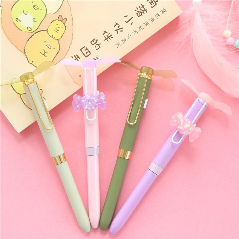 创意可爱少女心风扇笔随身便携迷你风扇小清新学生手持风扇圆珠笔(用1元券)